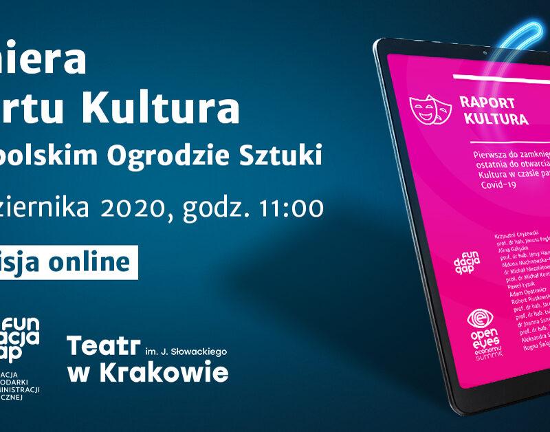 22 października, g. 11.00 – premiera Raportu Kultura w MOS (ONLINE)